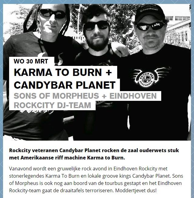 Eindhoven Rockcity DJ team draait plaatjes bij Karma to Burn en