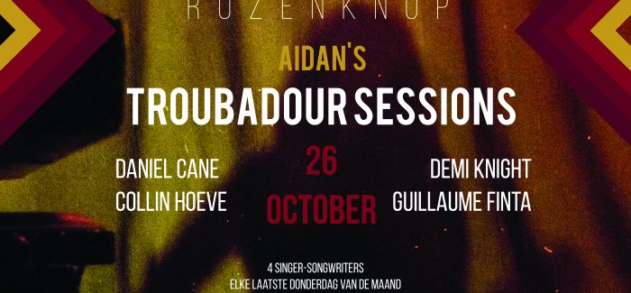 Nieuwe reeks van Aidan's Troubadour Sessions van start