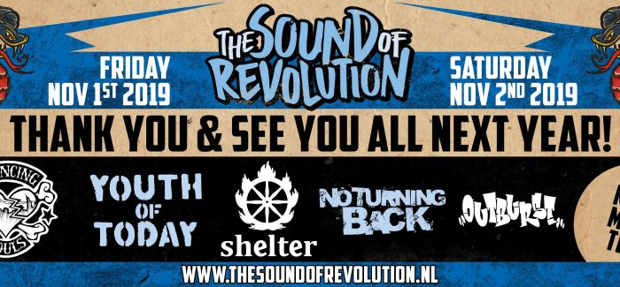 Eerste namen The Sound of Revolution 2019 bekend